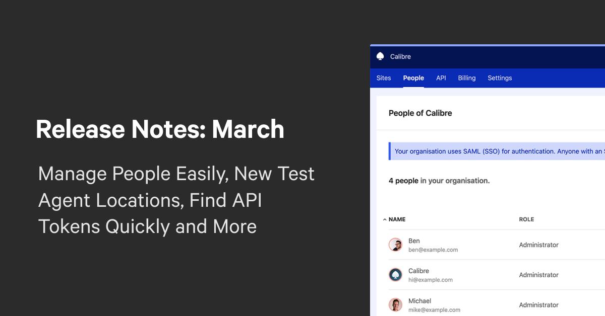 Calibre Release Notes: March