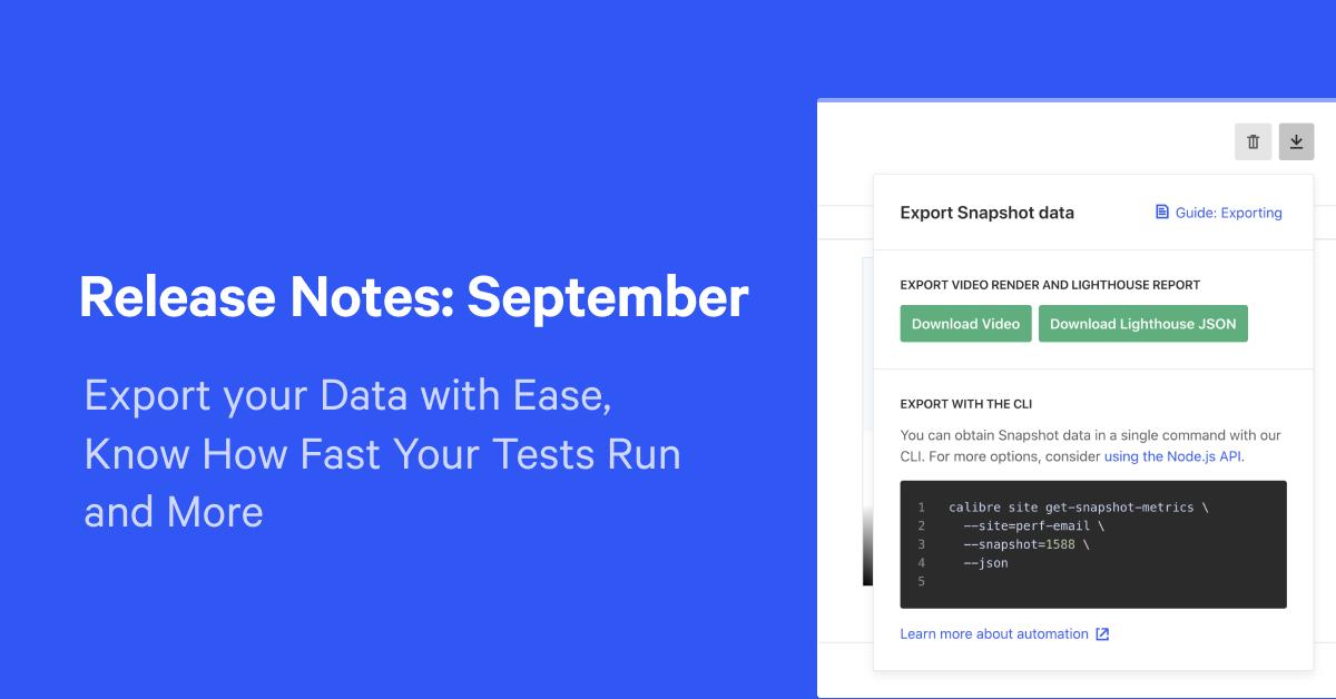 Release Notes: September