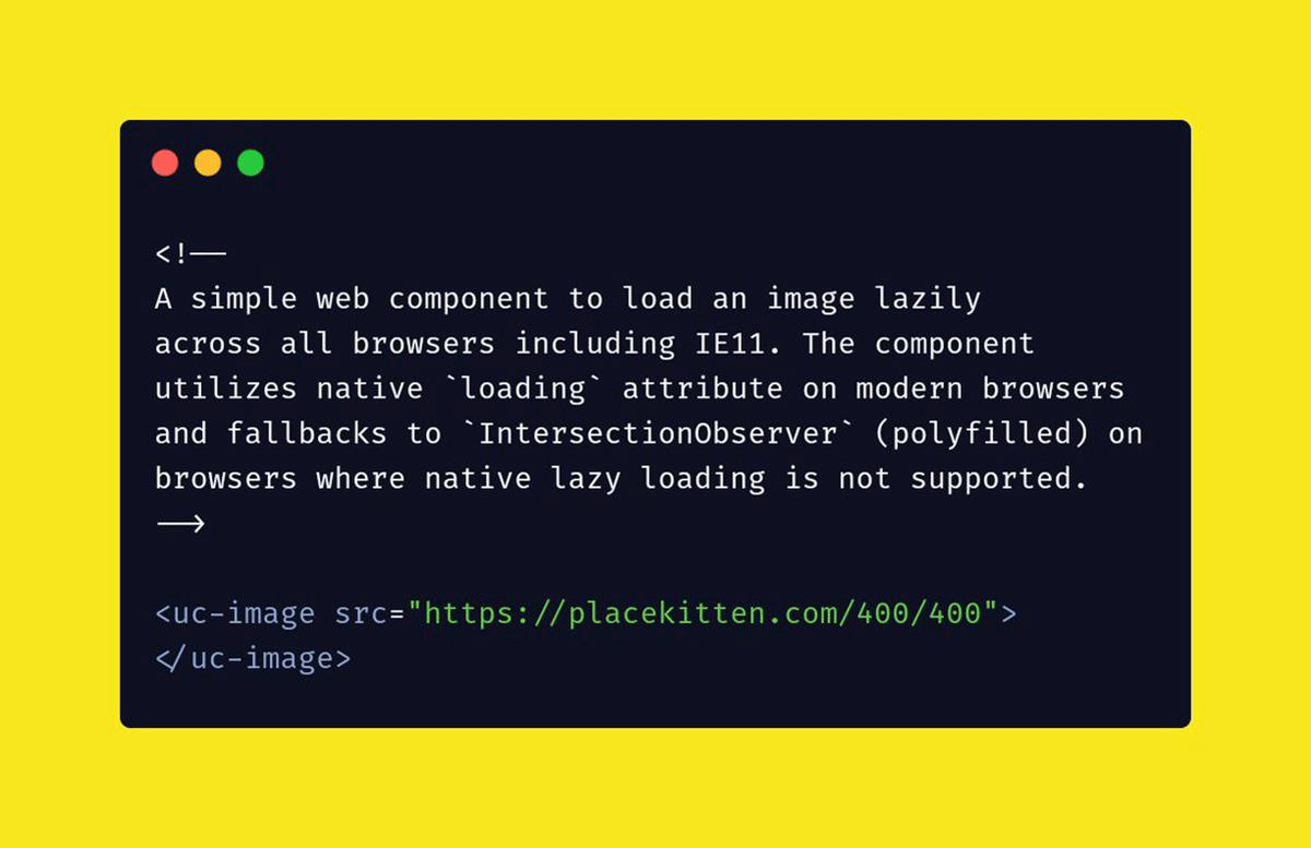 Utility Web Components