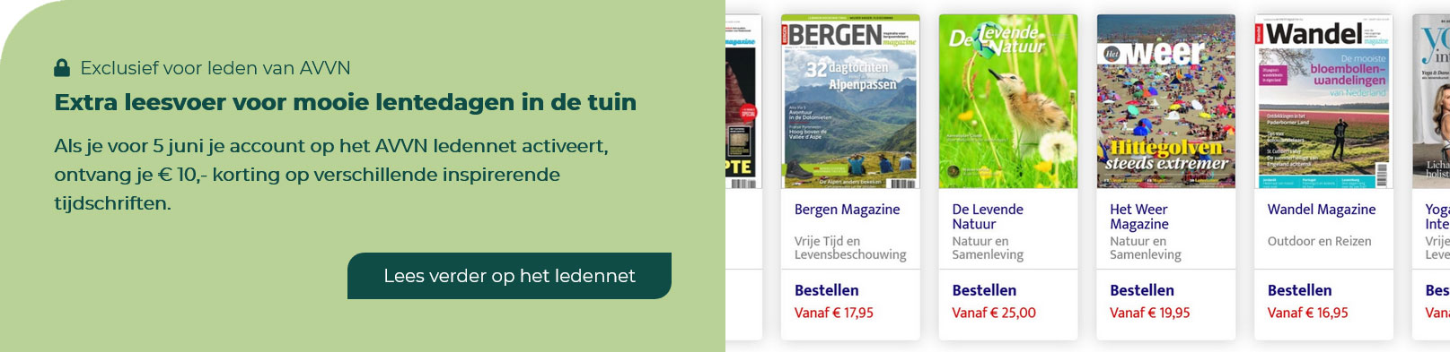 AVVN ledennet tijdschriftenactie