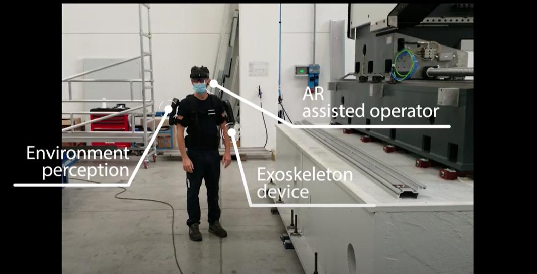Exoskeleton assisted machine building