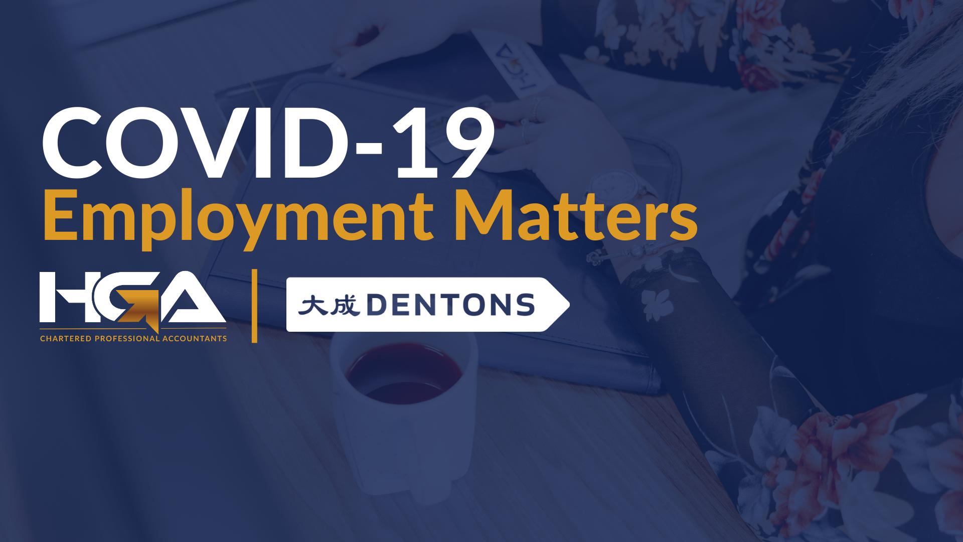 COVID-19 Employment Matters Webinar: March 24, 2020