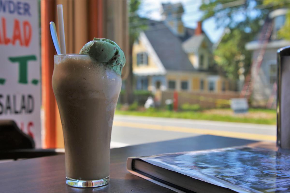 Ice cream on a table