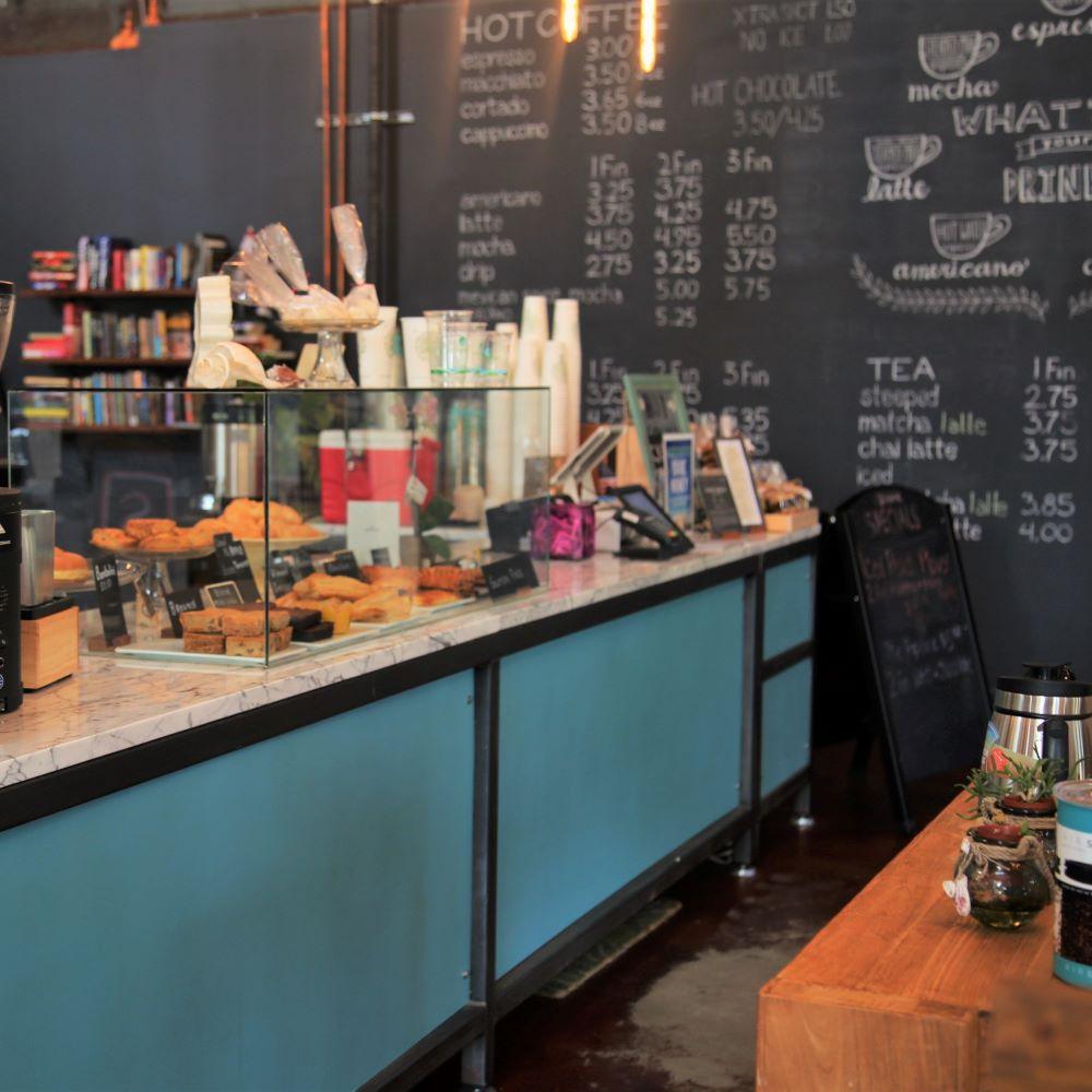 Inside of coffee shop