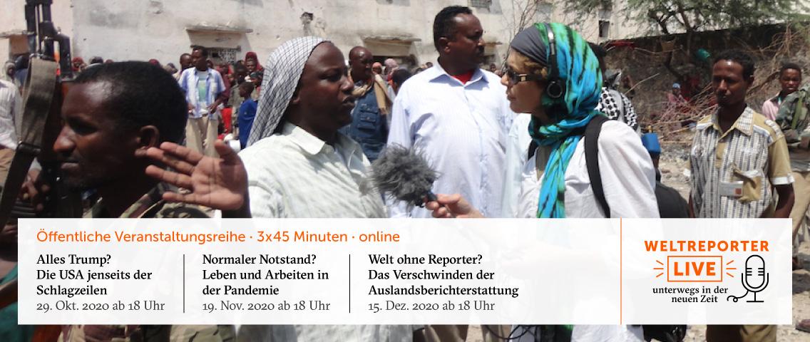 Veranstaltungsbanner Weltreporter Live