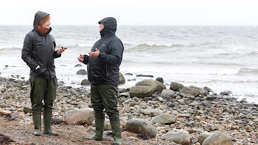 Julia Wäschenbach und die Austernfischerin