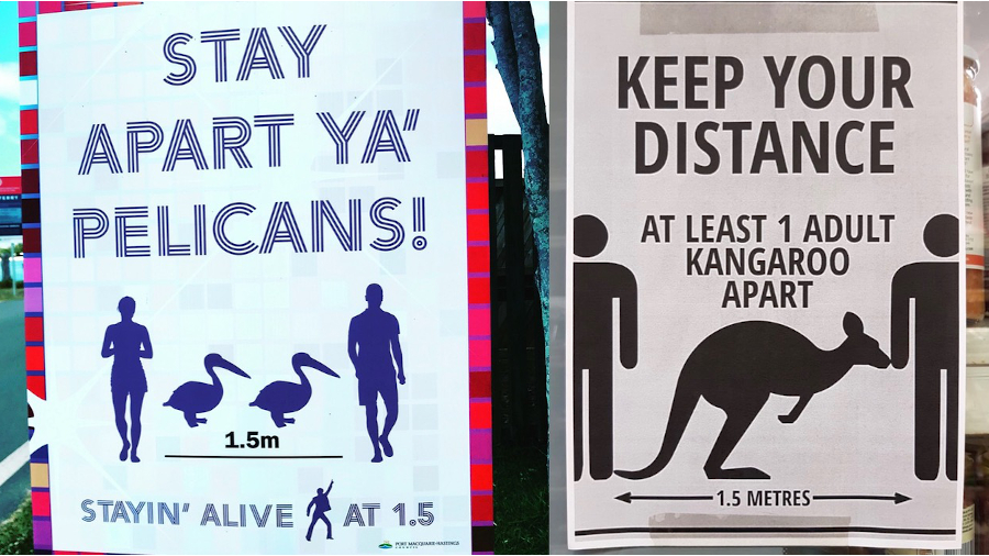 Keep Your Distance Plakate in Australien