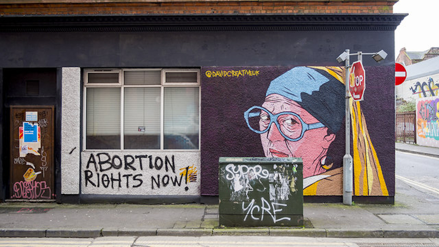 "Graffitti in Irland: ""Abortion rights now!"""