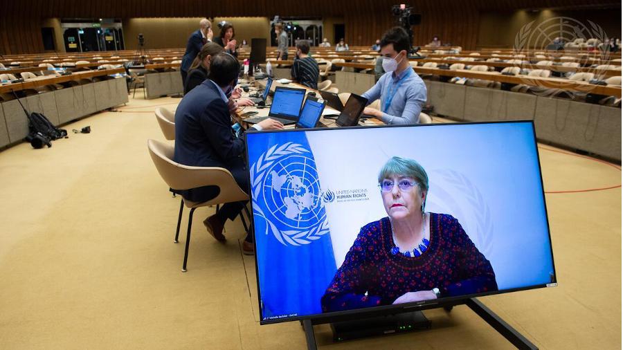 Die UN-Hochkommissarin für Menschenrechte, Michelle Bachelet, eröffnet Ende Mai die Sondersitzung des Menschenrechtsrats zur Lage in Gaza