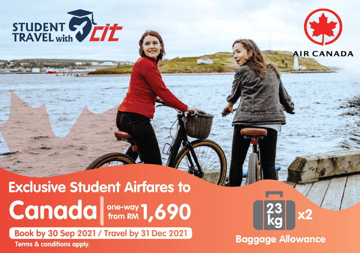 Student Airfares to Canada - One-way from RM 1,690