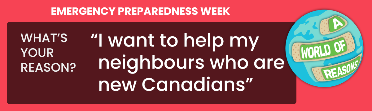I want to help my neighbours who are new Canadians