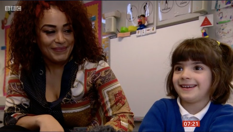 Photo of teacher and child