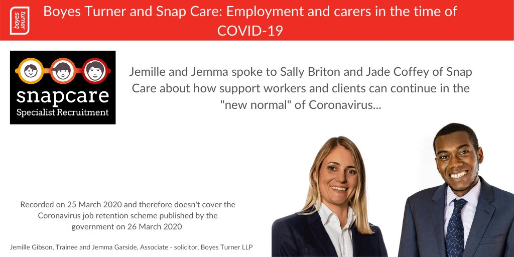 Boyes Turner and Snap Care Podcast info