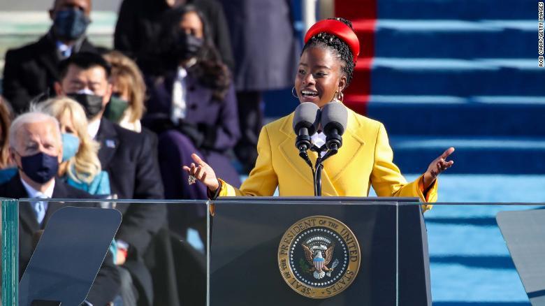 Amanda Gorman delivers her poem at President Biden's inauguration