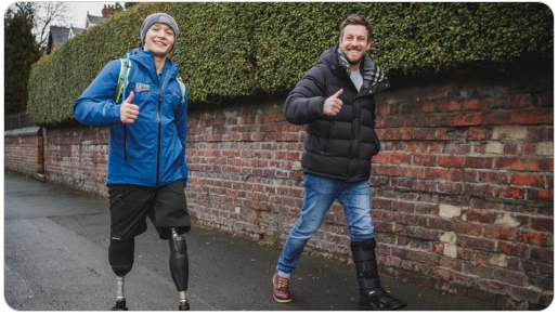 Billy Monger and Chris Ramsey give the thumbs up