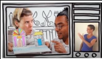 Anna & Arji's Broom Cupboard: How to make a paper city. BSL interpreted