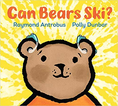 Book cover for Can Bears Ski showing young bear