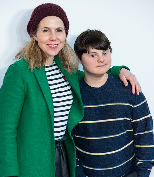 Comedy actress Sally Phillips with son Olly