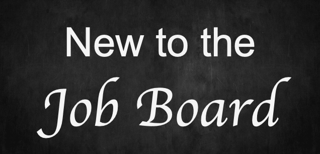 chalkboard with 'New to the Job Board' written on it