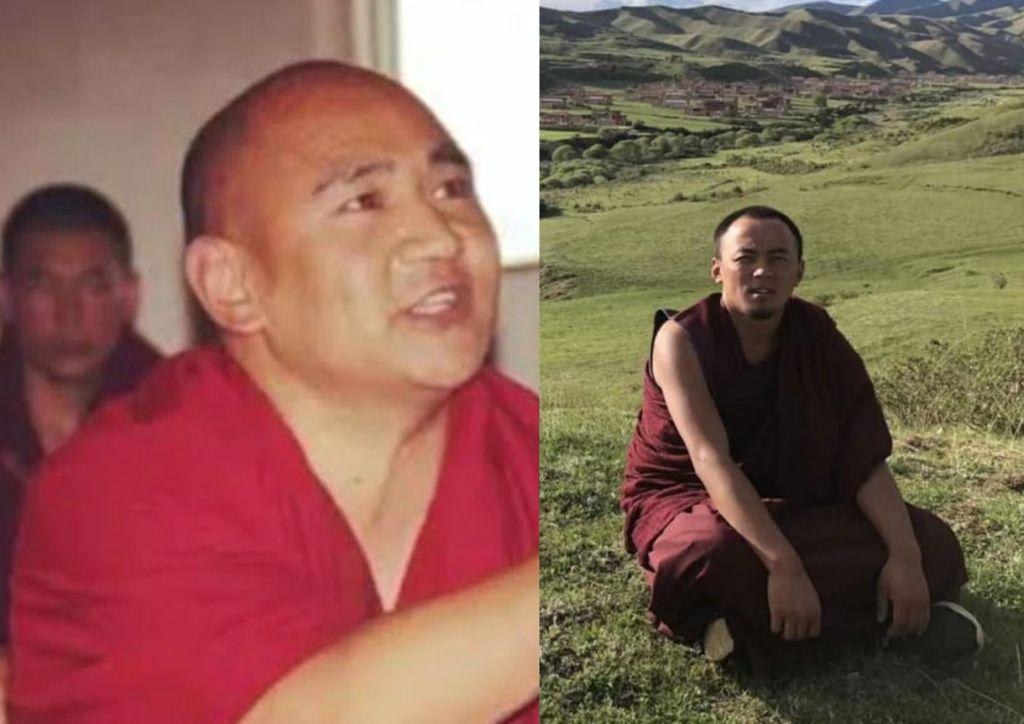 Foto van Tibetaanse politieke gevangenen Rinchen Tsultrim en Go Sherab Gyatso