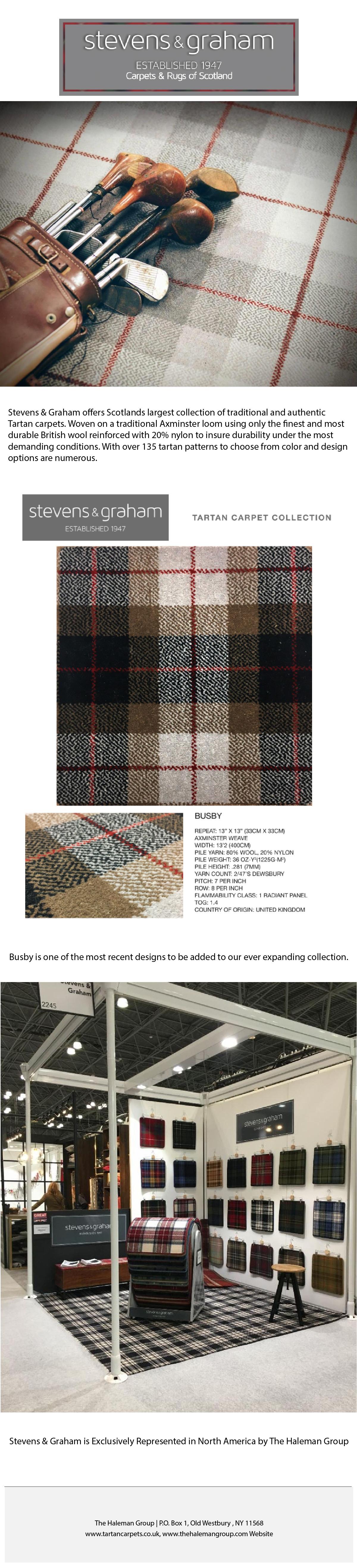 Tartan carpet and rug image
