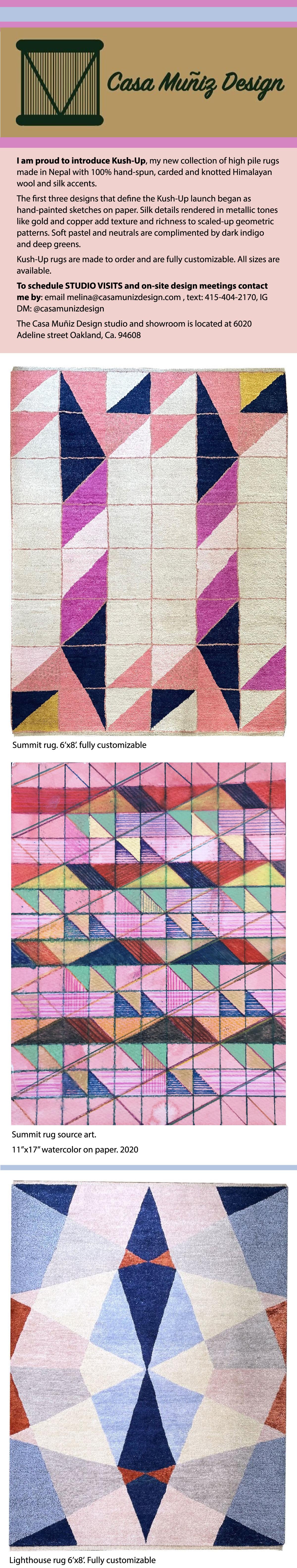 Casa Muniz Design Kush up rug images