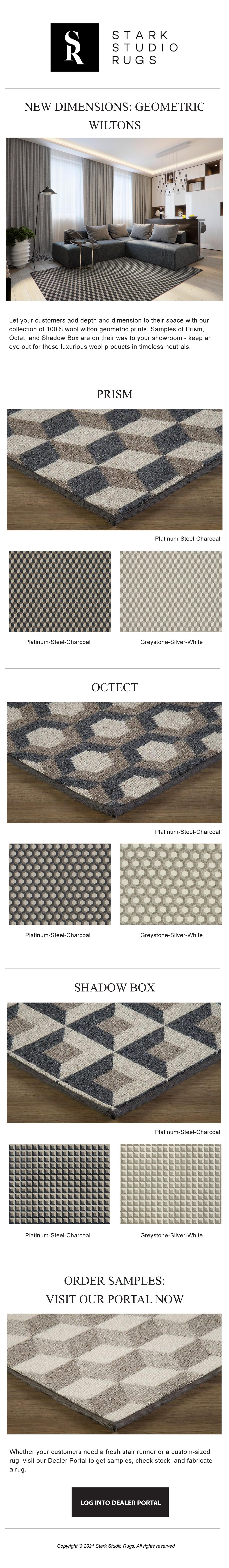 Prestige Mills   Wilton Highlight: New Geometric Wools