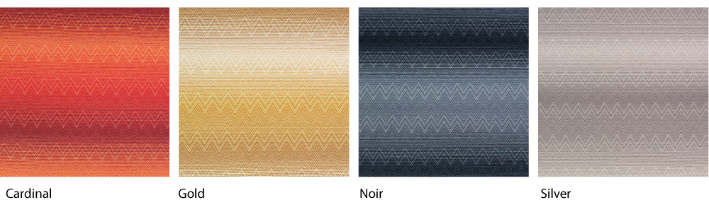 Missoni Gionanna colors: Cardinal, Gold Noir and Silver