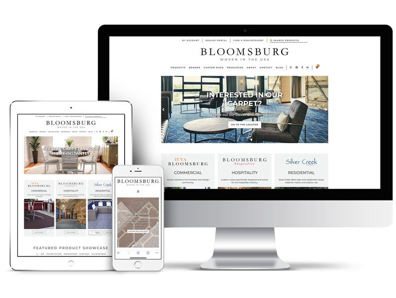 Bloomsburg site screen images