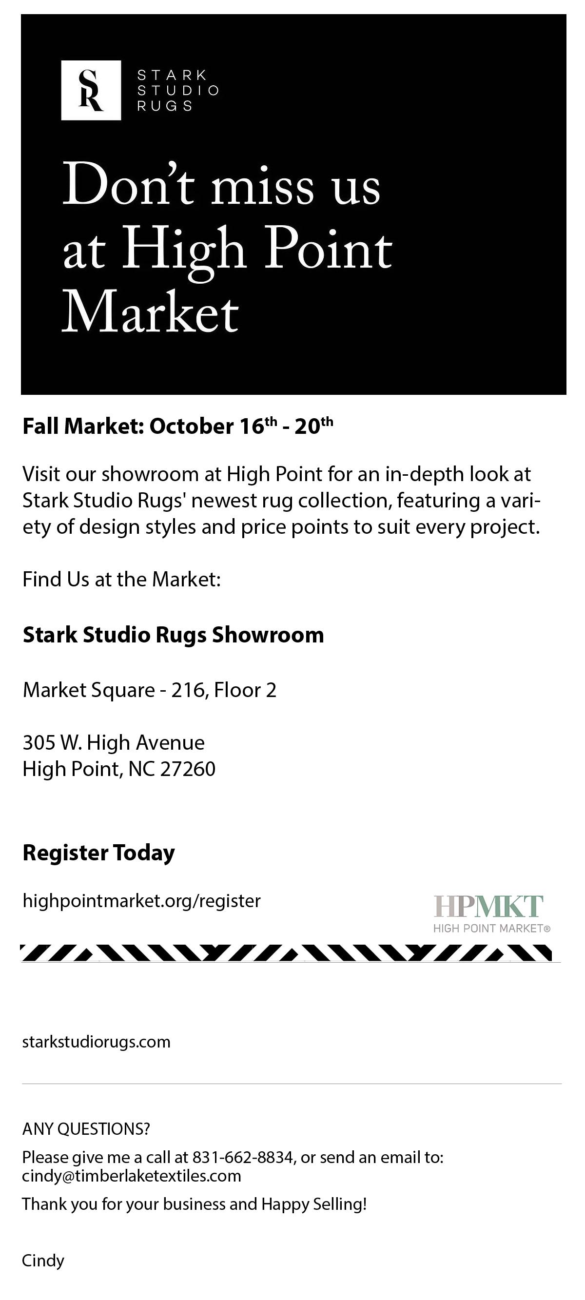 2021-Stark Studio Rugs High Point Market is Here!