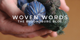 Bloomsburg button for Woven Words