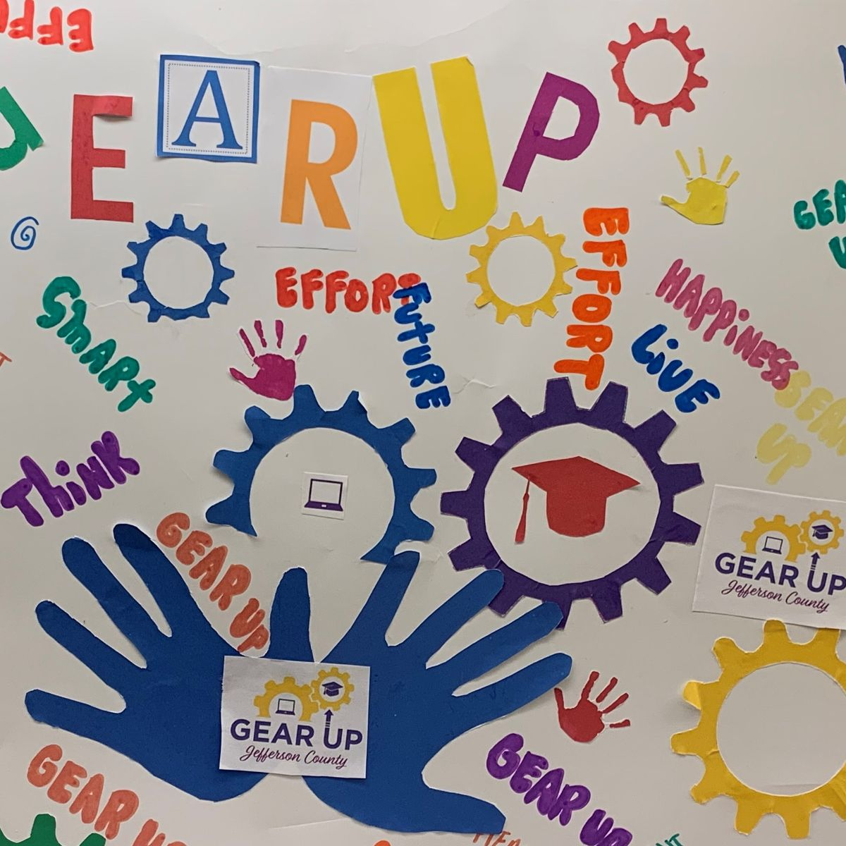 GEAR UP Jefferson County poster created by students.