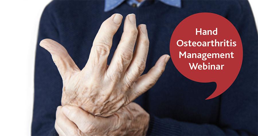 Join us for a FREE webinar on hand Osteoarthritis