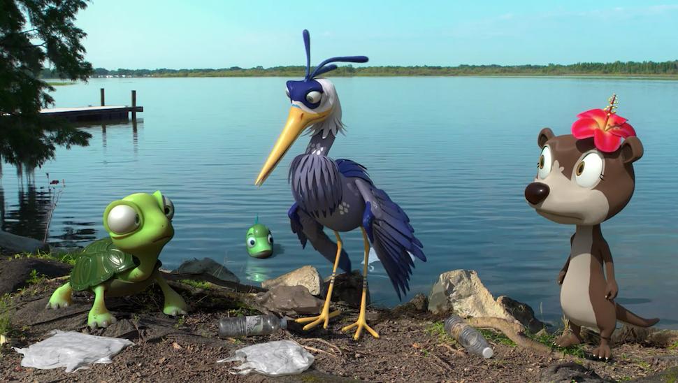 Screenshot from Hope the Heron video