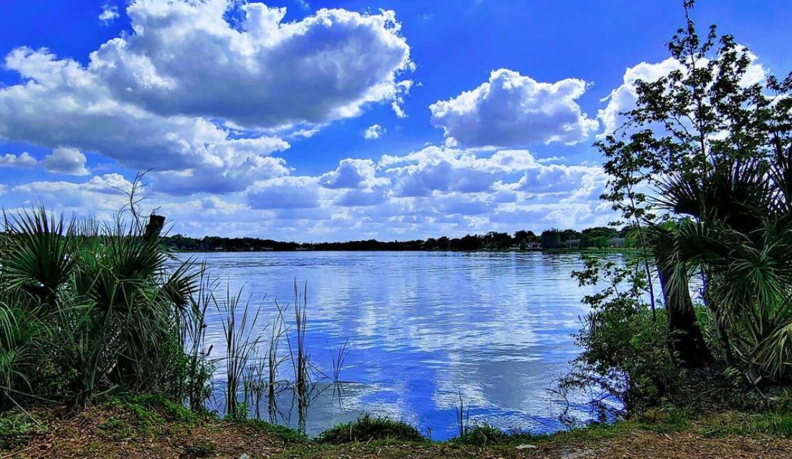 outside landscape of lake hunter