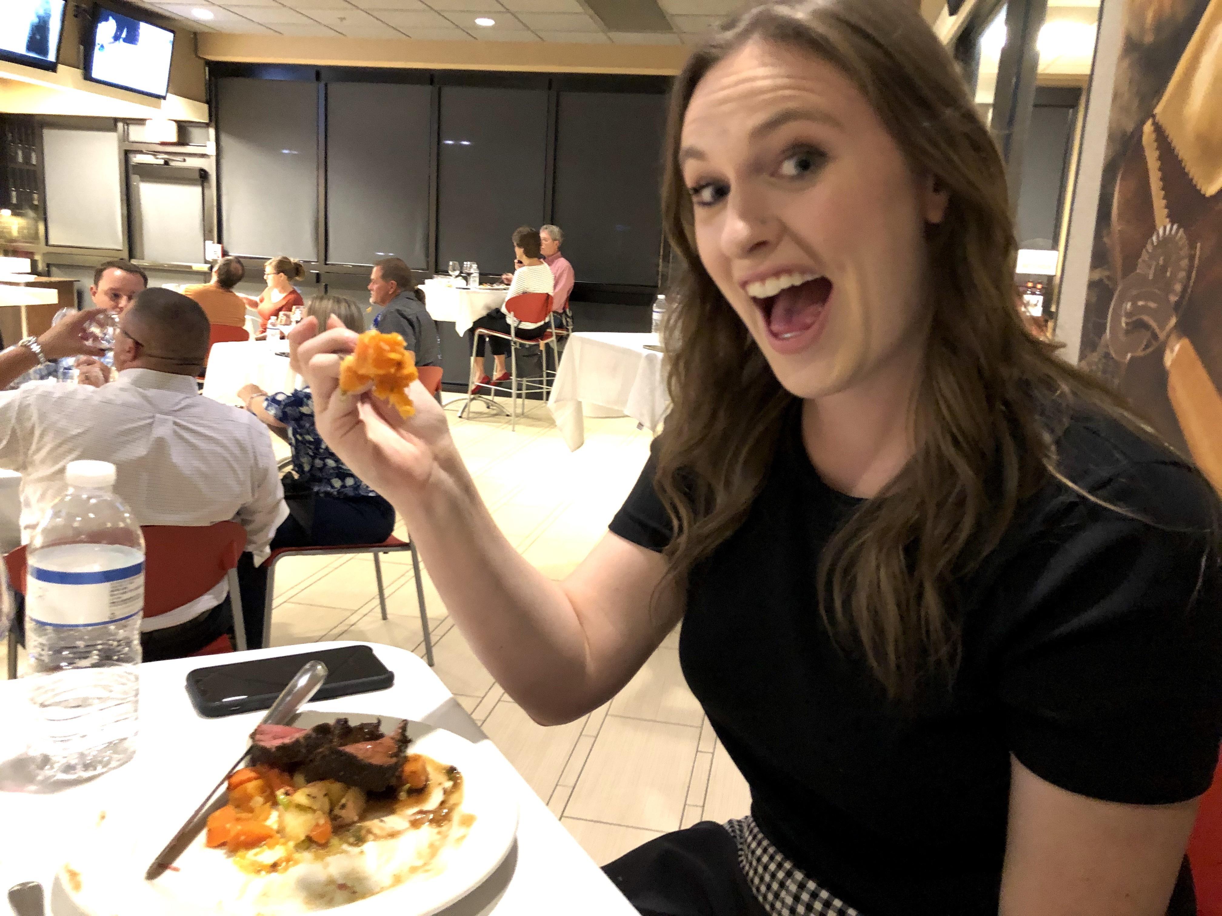 LALtoday editor Katelyn enjoying her meal