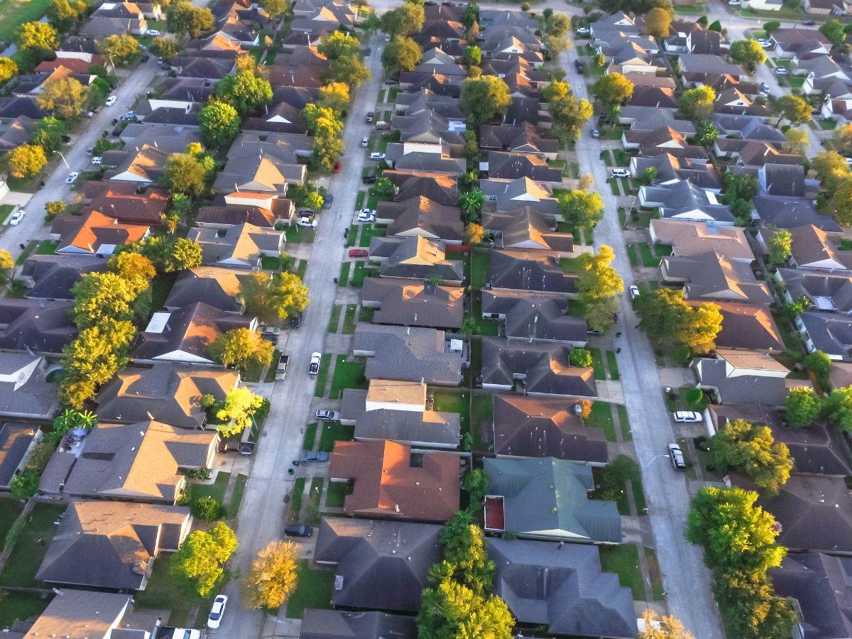 houston neighborhood aerial view