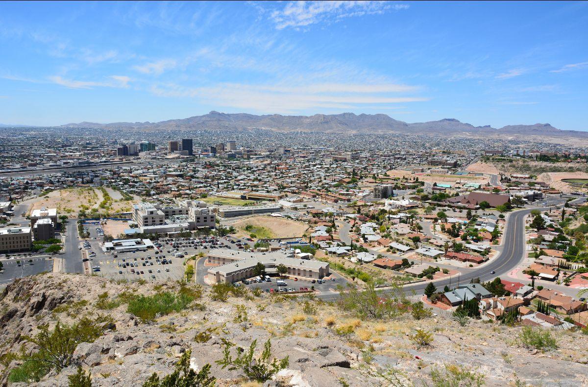 Aerial view of El Paso and Ciudad Juarez