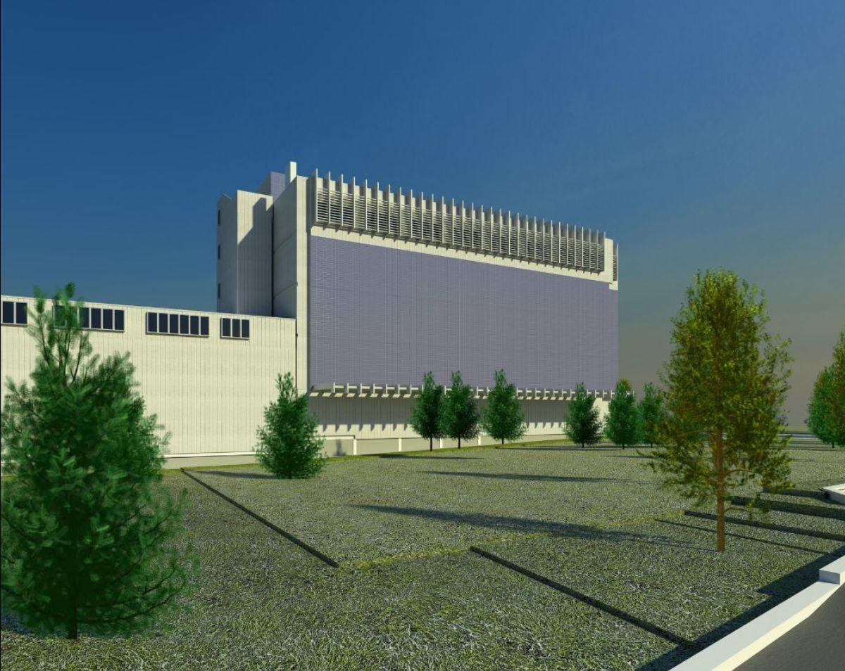 Rendering of data center