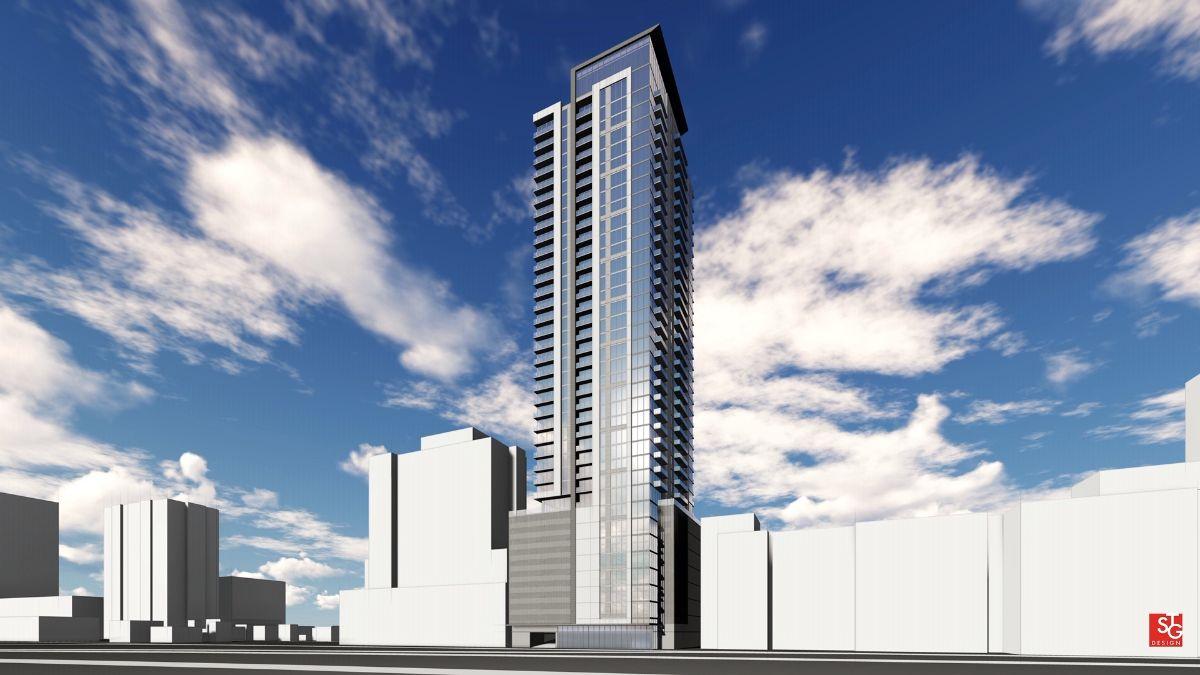 Rendering of 41-story condo building
