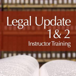 TREC Legal Update 1 & 2 insturctor training