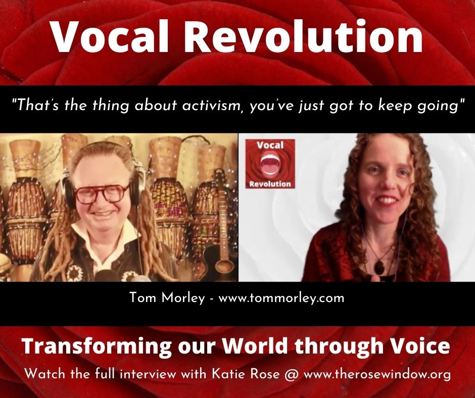 Vocal Revolution Zoomcast Ep 5 Voice of Activism with Tom Morley and Katie Rose