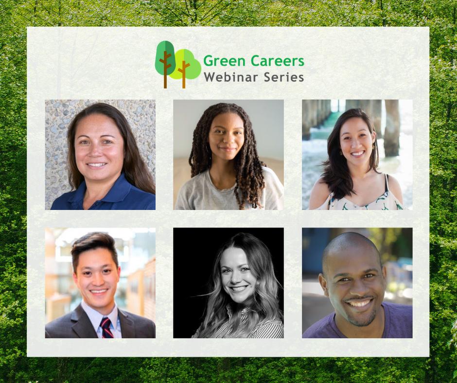 Green Careers Webinar Series presenter headshots