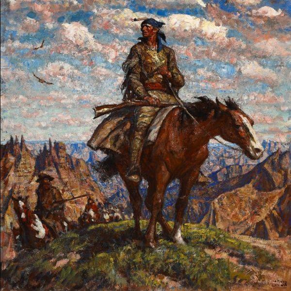 Harvey Dunn, Jedediah Smith in the Badlands