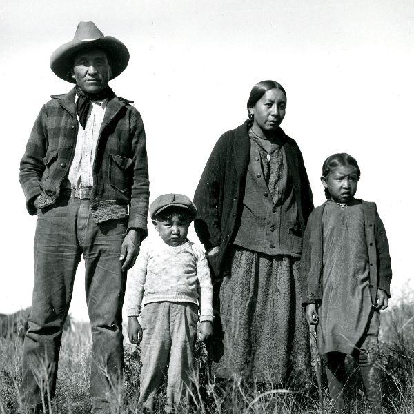 Eugene Buechel, Spotted War Bonnet and Family