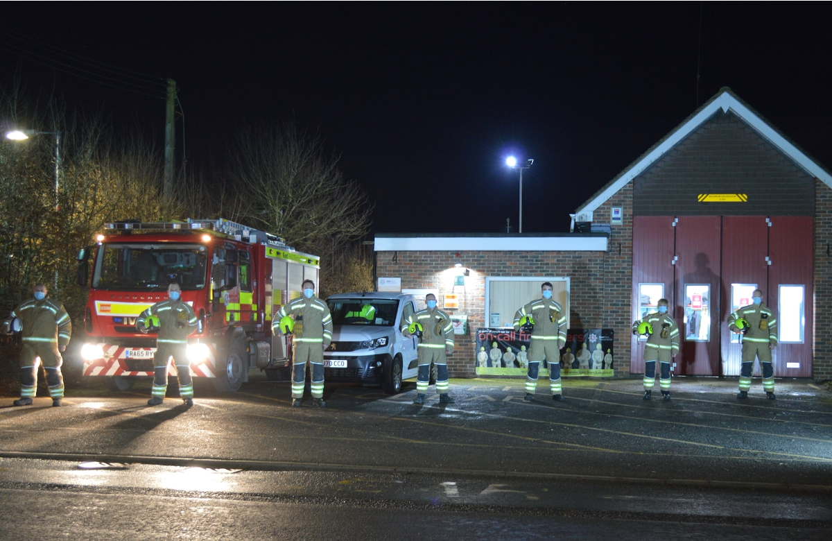 The current Headcorn Fire Station team