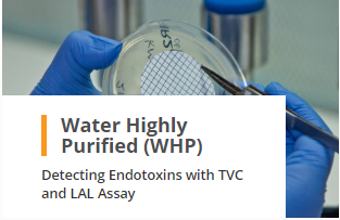 Water Highly Purified WHP Analysis Detecting Endotoxins TVC and LAL Assay