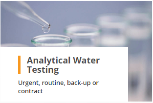 Analytical Water Testing Urgent Routine Back-Up and Contract Analysis