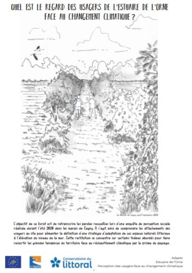 Quel est le regard des usagers de l'estuaire de l'Orne face au changement climatique ? Bande-dessinée