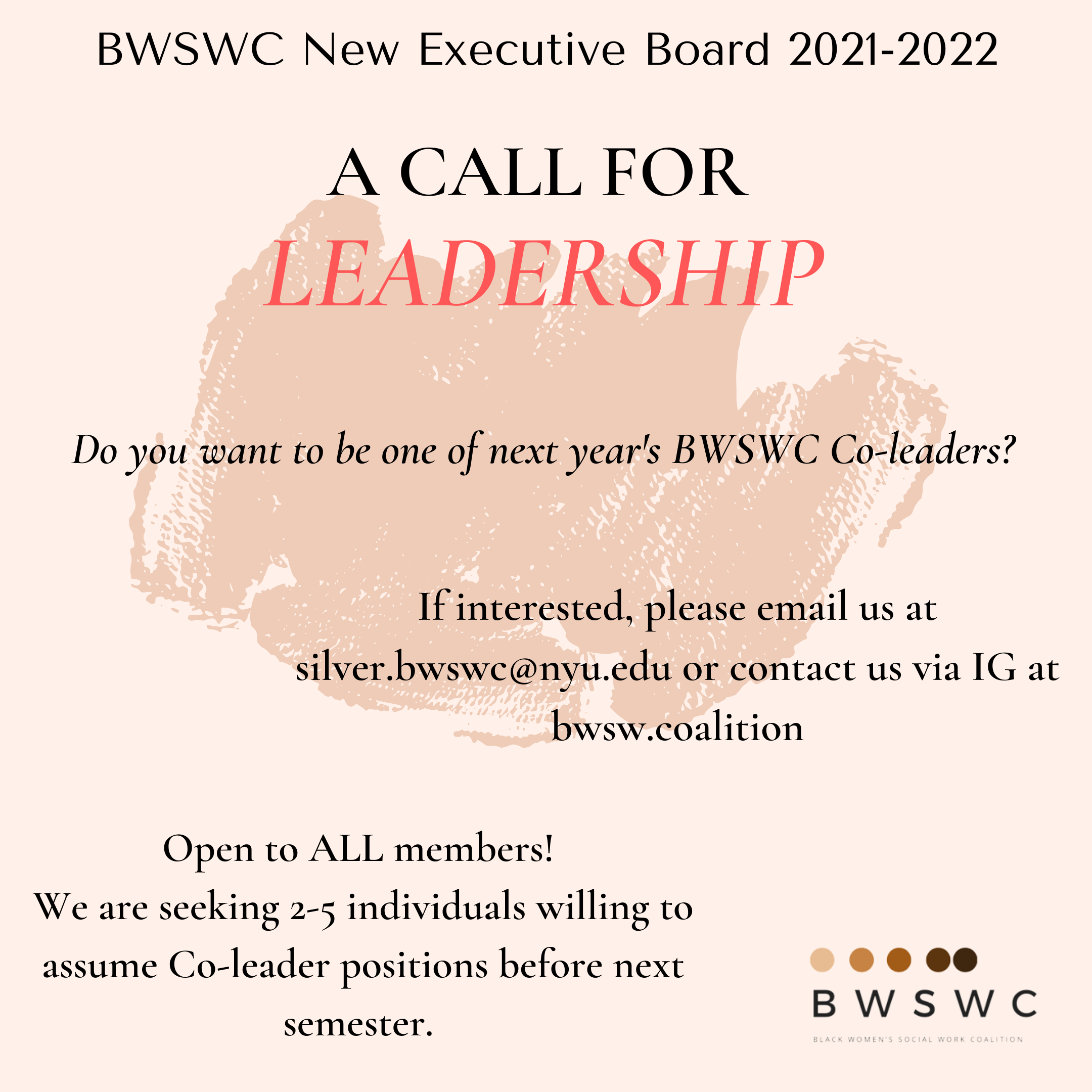 BWSWC Call for Leadership flyer